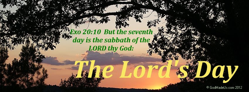 Image of a sunset with trees in the foreground and the words: Exo 20:10 But the seventh day is the sabbath of the LORD thy God: