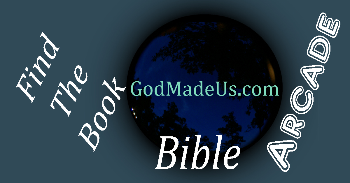 Bible games on GodMadeUs.com Find the Book