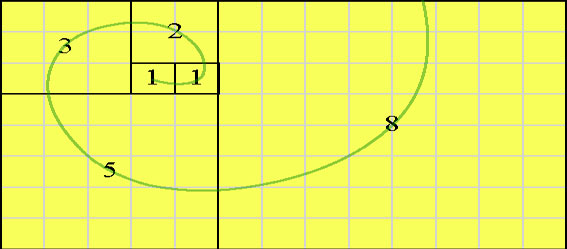 Picture of the Fibonacci sequence