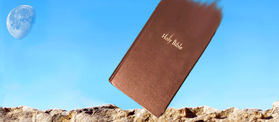 Picture of a Bible coming from the sky