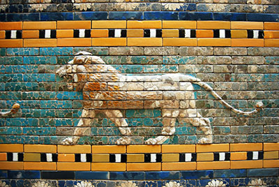 Image showing part of the Ishtar gate.