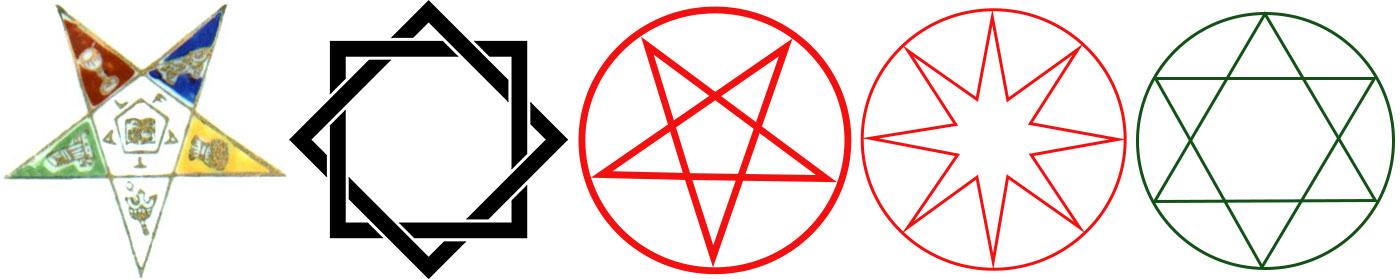 Image showing various pagan stars