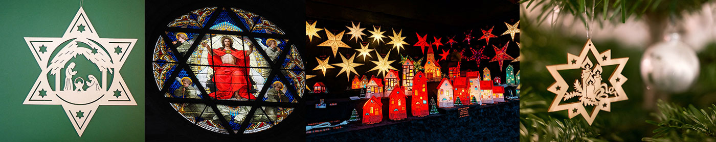 Image showing various Christmas stars