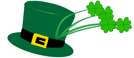 Picture of green hat with clover.
