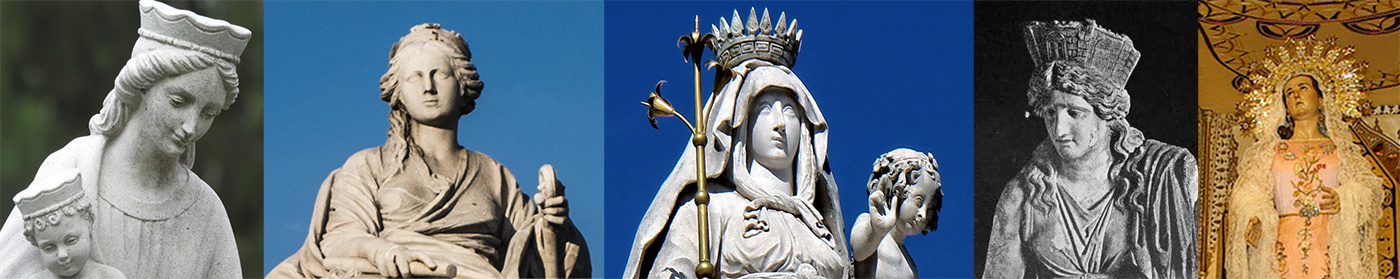 Images of Cybele and Mary