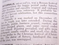 Image showing definition of saturnalia.