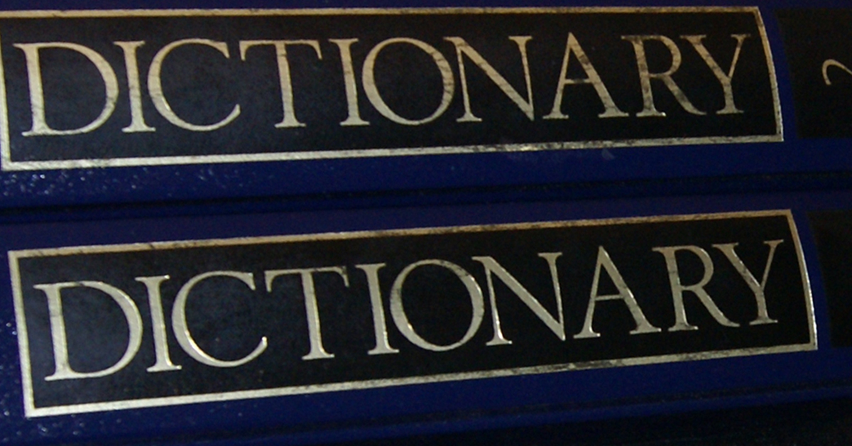 Picture of dictionary