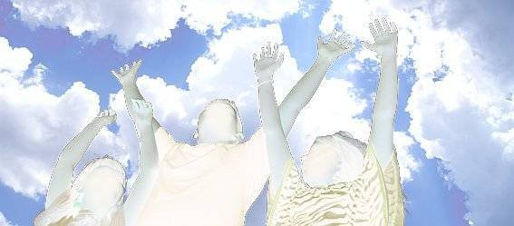 Picture of young kids reaching towards the sky